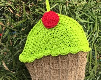 Lime green, handmade, crochet, kitchen, dishcloth