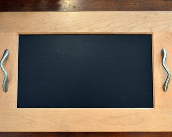 Upcycled Cabinet Door Chalkboard Modern Serving Tray