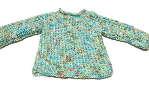 Tejido a mano bebé suéter Jersey Unisex ideal para bebé  2299bbff4975