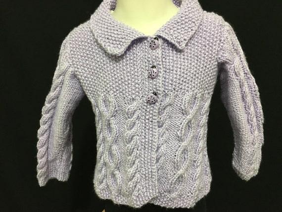 Tejida a mano bebé suéter bebé suéter de la Rebeca de niña  b25c466e4fa1