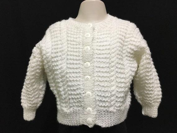 Punto a mano bebé suéter chaqueta Unisex ideal para  0e3bb6d68273