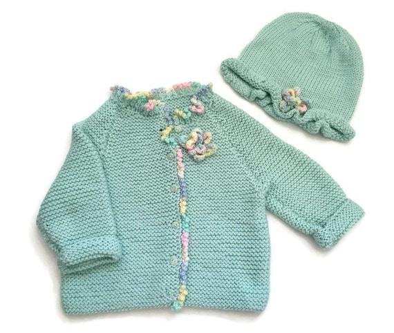 Suéter de bebé de punto a mano bebé suéter de niña niño con  feac440741db