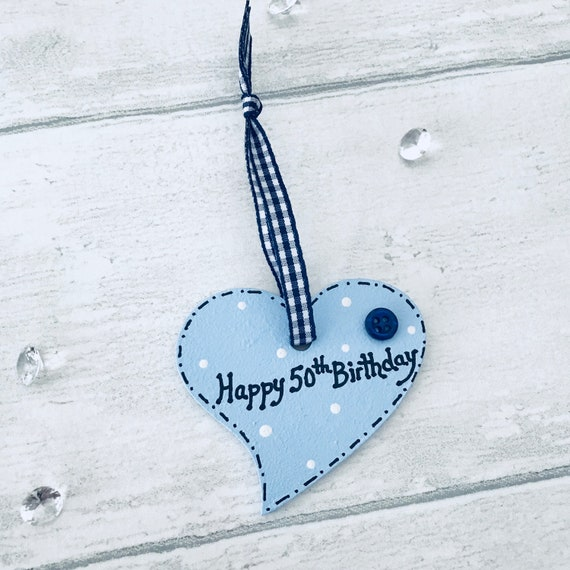 Happy 50th Gift Tag Birthday Memento