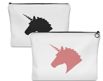 Unicorn Makeup Bag In Blush Pink And Black