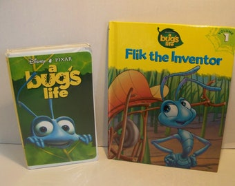 Disney A bugs Life VHs and Flik the inventor book