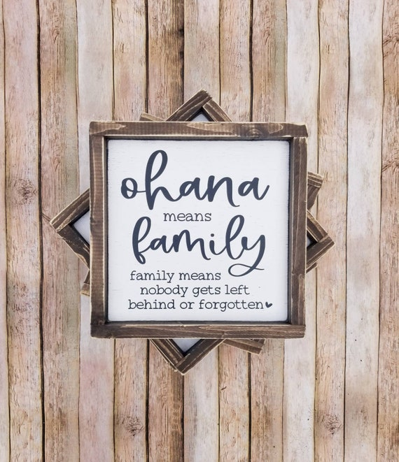 Ohana means family Family photo frame Family picture frame Wood picture holder Wood picture frame Family quote sign Ohana sign