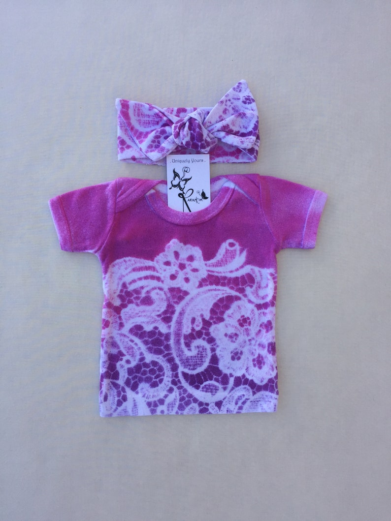 56c351651290 Newborn Girl Clothes Tie Dyed Baby Girl Outfit Baby Shower