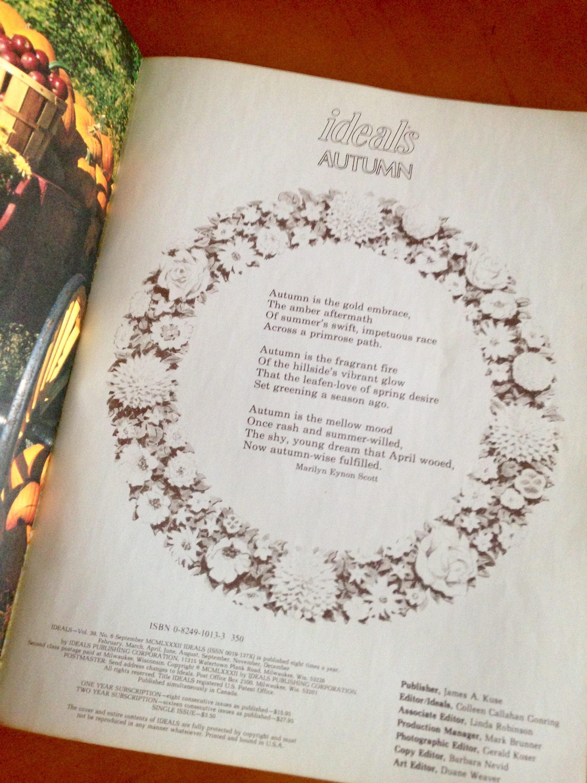 Autumn Ideals Magazine , Vintage Fall Magazine , Autumn Coffee Table ...