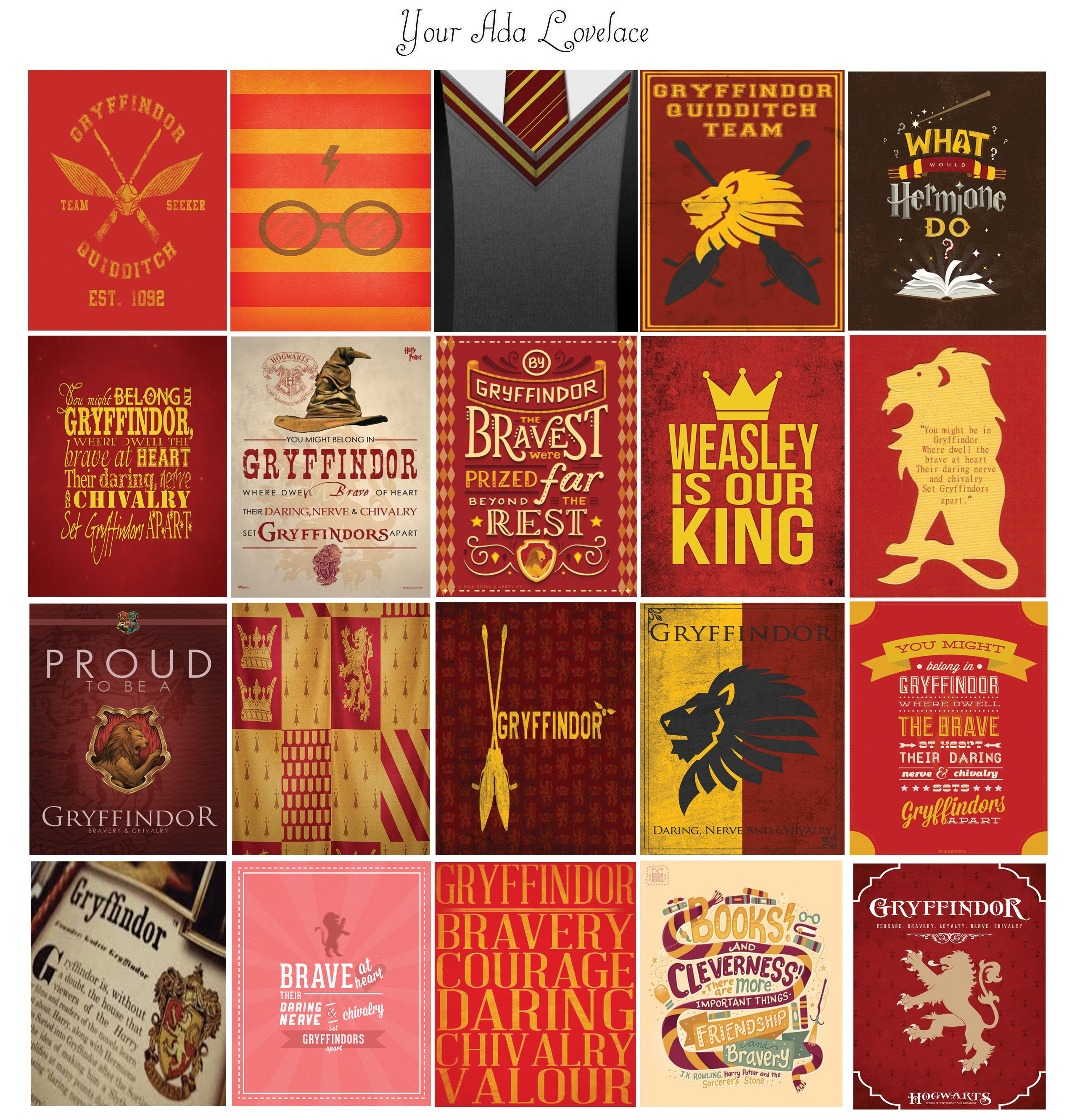 Harry Potter Gryffindor House Planner Sticker Quote Set Etsy
