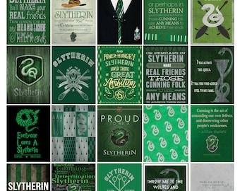 Slytherin House Harry Potter Planner Sticker Quote Set! Inspired by Erin Condren Planner/ Me & My Big Ideas Planner/Scrapbooking