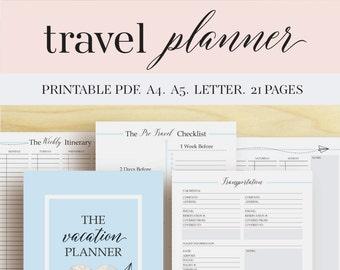 travel planner etsy