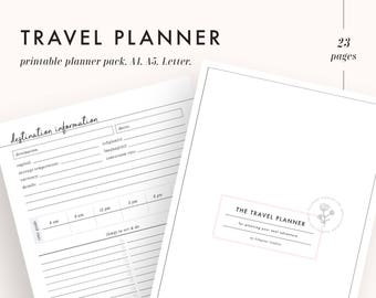 vacation planner travel planner trip planner vacation etsy