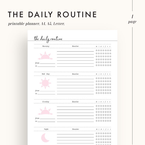 picture regarding Morning Routine Printable identified as everyday program planner, plan planner printable, early morning program, night time agenda, property planner, printable planner, pattern planner