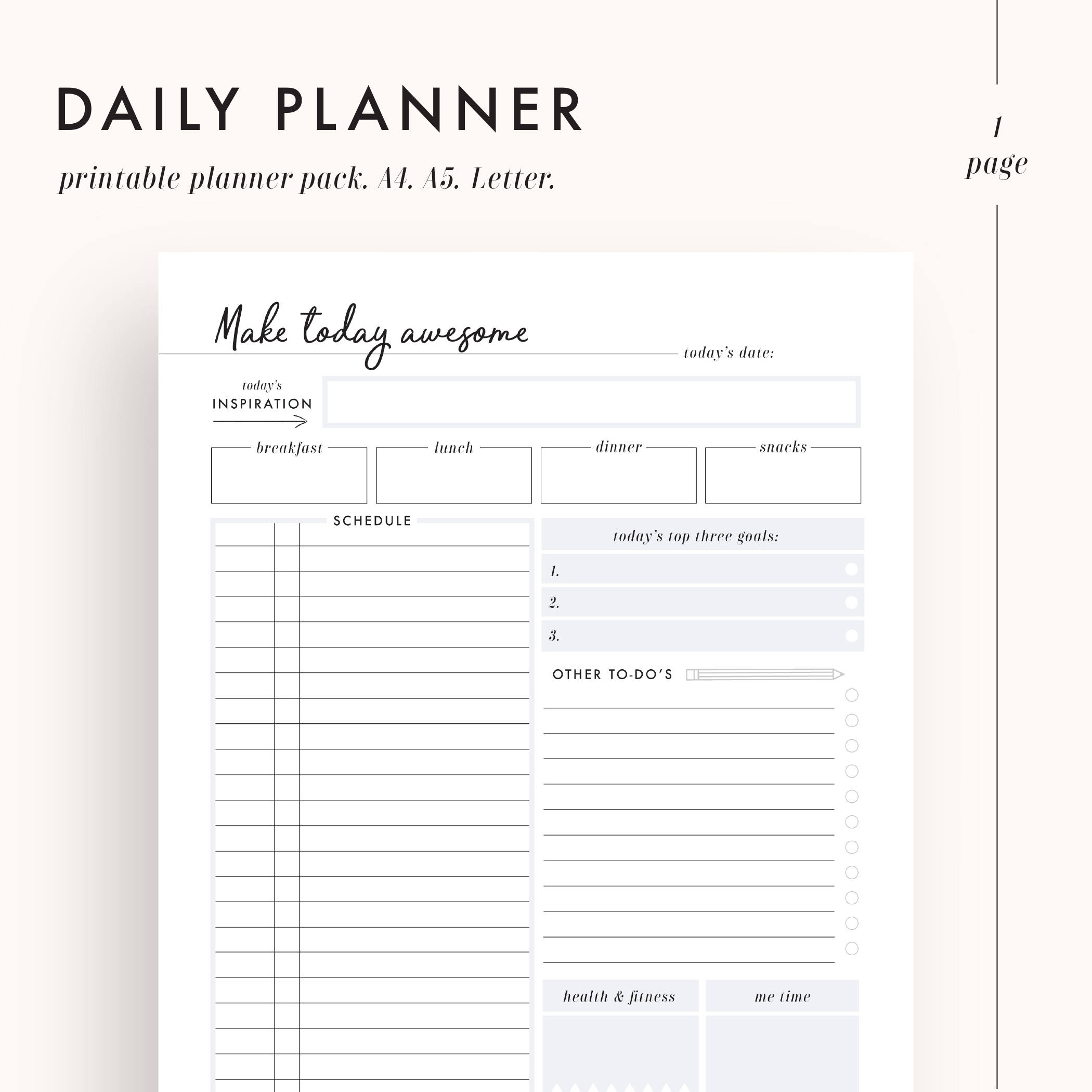 Ambitious image with regard to day by day planner