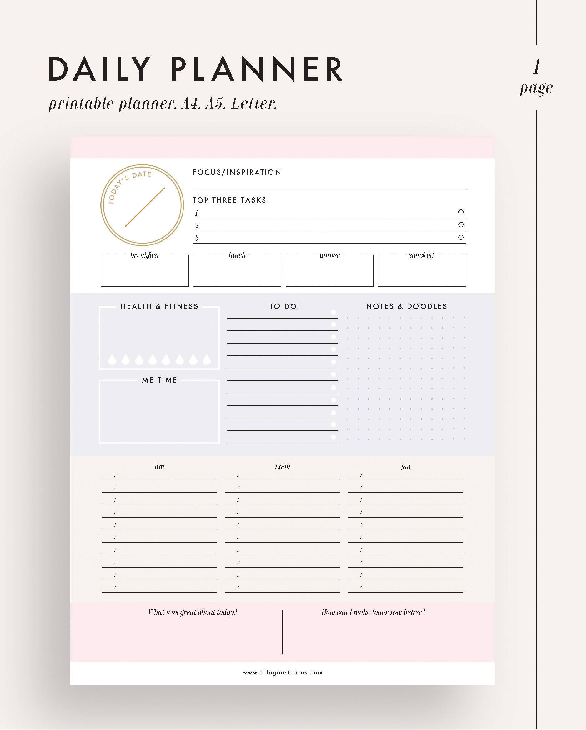 photograph relating to Daily Planner Printable known as Each day planner, printable planner, planner inserts, planner printable, working day planner, day by day planner add, every day timetable, day-to-day organizer