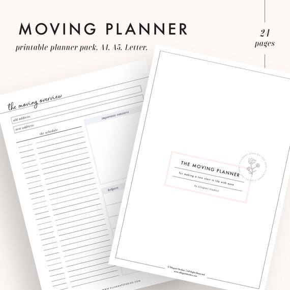moving planner kit moving planning relocation planner etsy