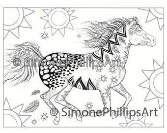Popular Items For Horse Coloring Page