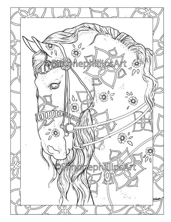 malvorlage blaues pferd