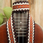 Handwoven Ukulele Strap, Quality Leather Strap Ends, Free Leather Head Stock Strap Holder, No Strap Buttons Hook Option