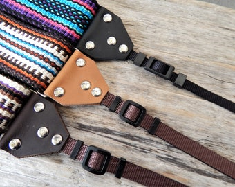 """Leather Camera Strap Kit for a 2"""" Wide Strap, DIY Camera Strap Kit; Replacement Camera Strap Ends"""