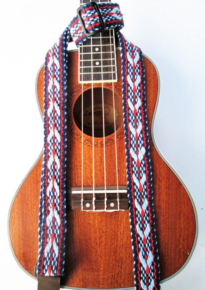 Handwoven Ukulele Strap Southwestern Colors Fancy Weave image 0