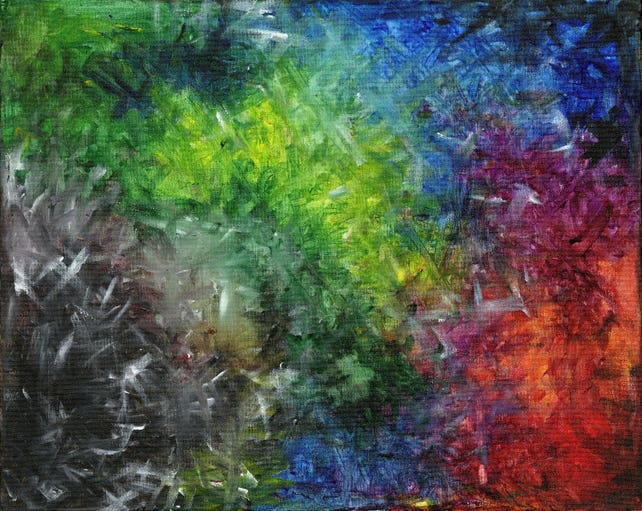 abstract color explosion painting acrylic art energizing etsy