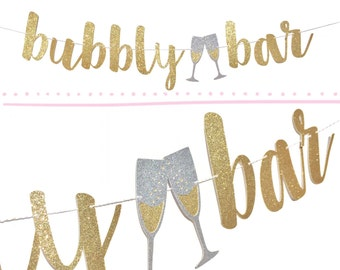New Year Decorations   Bubbly Bar Sign   New Years Party Banner   New Years Eve Decorations   Bubbly Bar Banner   New Years Party Decor 2017