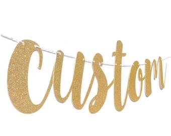 Custom Banner | Custom Bachelorette Banner | Wedding Banner | Engagement Party Decorations | Bachelorette Party | Wedding Hashtag Banner