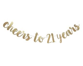 21st birthday banner etsy