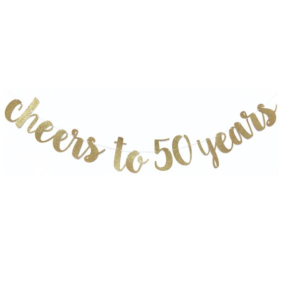50th Birthday Party Decorations 50th Birthday Banner Cheers To 50 Years Banner 50 And Fabulous 50 Birthday Fifty Birthday Decor