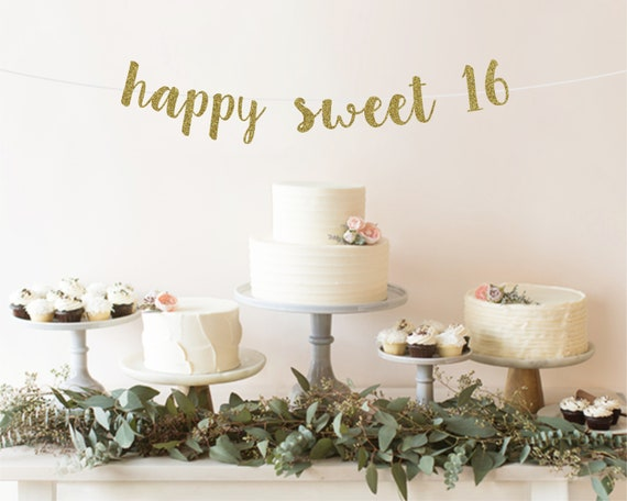 Happy Sweet 16 Banner Decoration