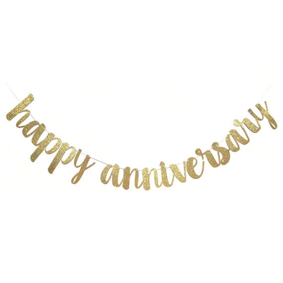 happy anniversary banner happy anniversary sign etsy