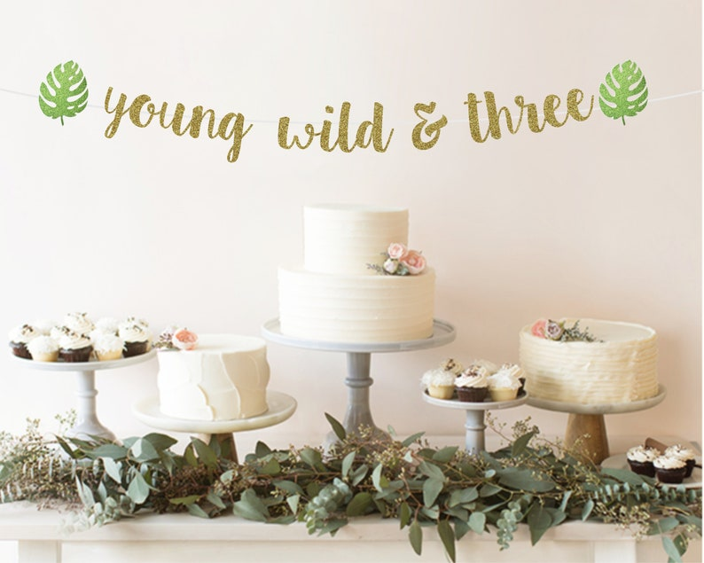 Young Wild And Three Banner Decorations