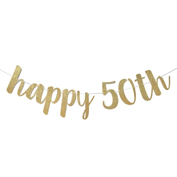 items similar to 50th birthday decorations 50th birthday banner