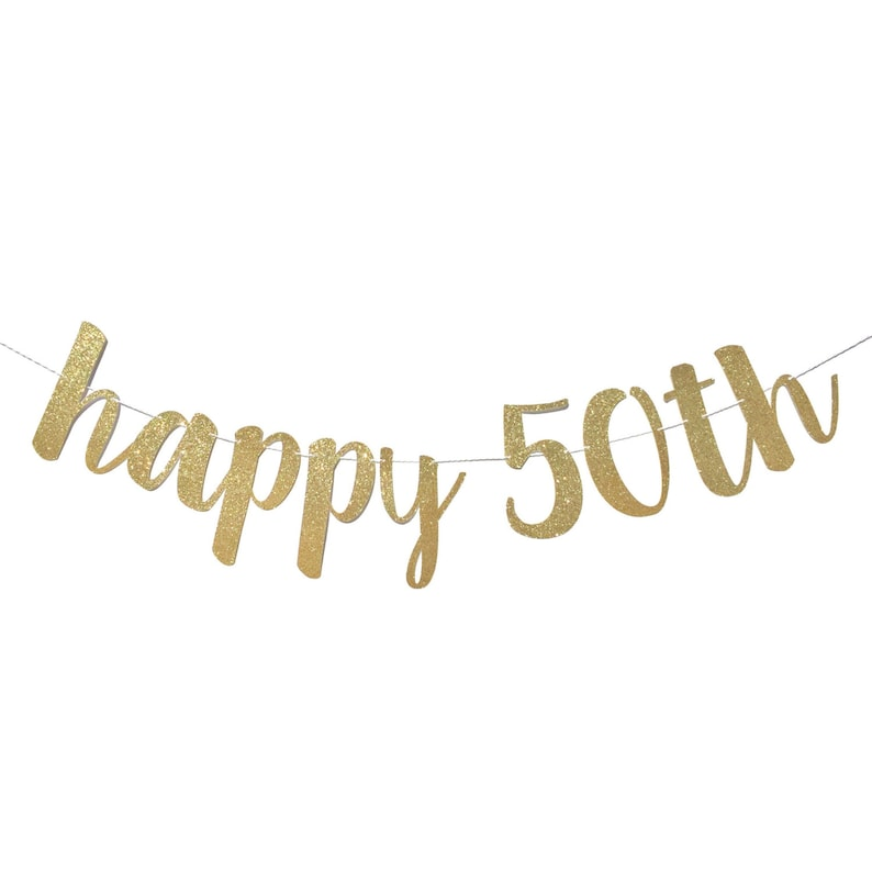 50th Birthday Decorations Banner Happy