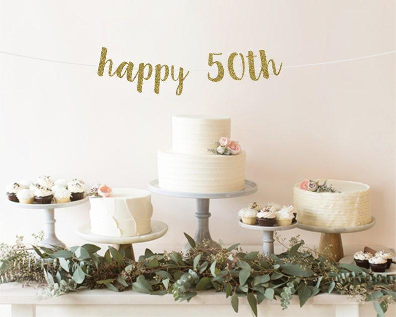 50th Birthday Decorations Banner Happy