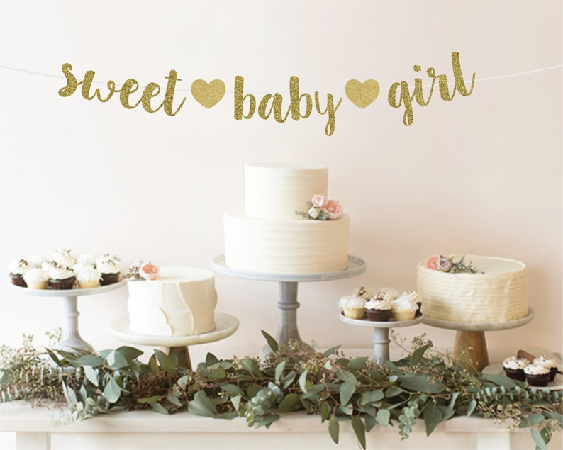 Baby Sprinkle Decoration Baby Shower Decorations Girl Sweet Baby Girl Baby Shower Banner Baby Girl Banner Girl Baby Shower Theme