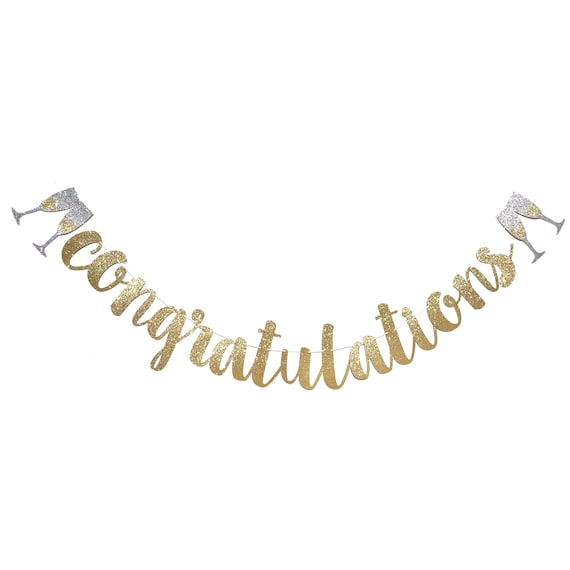 congratulations banner congratulations sign engagement etsy