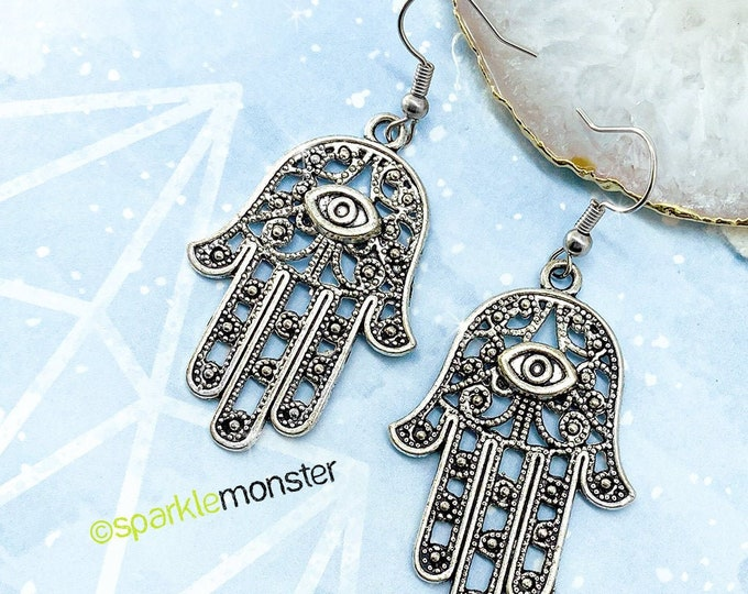 Filigree Hamsa Hand earrings
