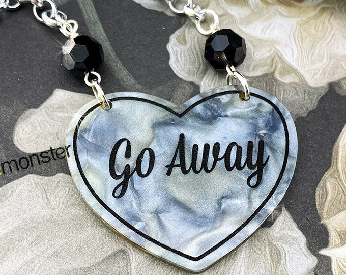 Go Away - gray pearl necklace