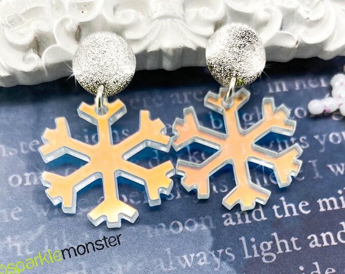 Stay Frosty iridescent dangle earrings