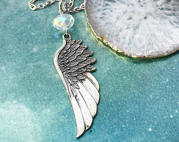 Angel Wing - alloy metal necklace