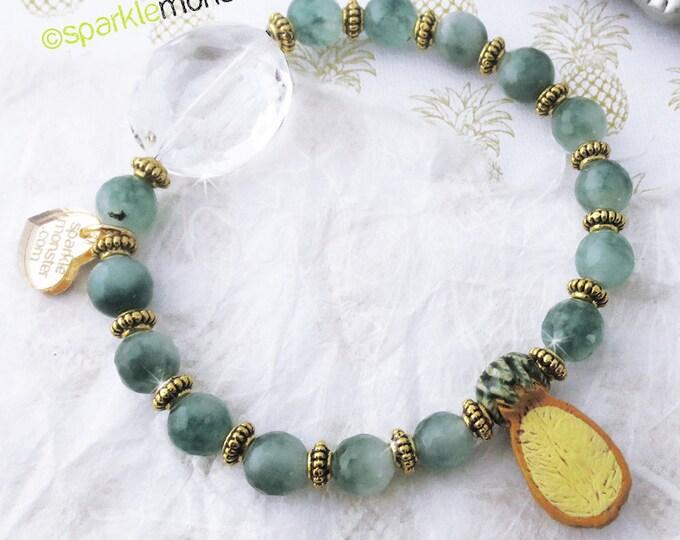 Sweet Pineapples - Jade bracelet