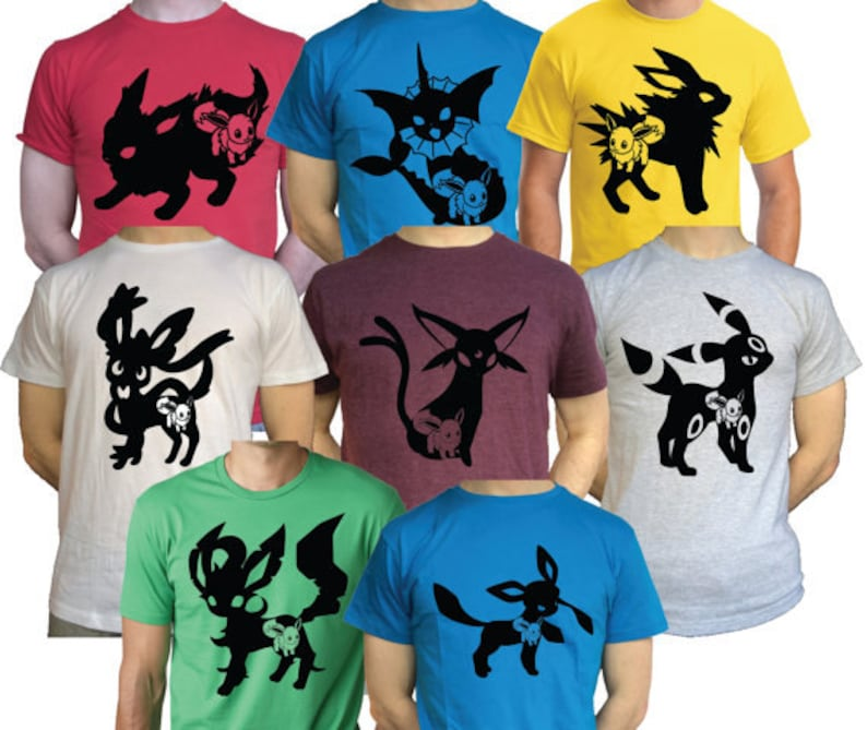 08b948c2 Mens / Females Eevee Evolutions T Shirt Jolteon Vaporeon   Etsy