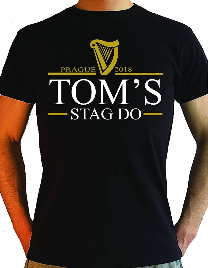 Personalised Stag T-shirts Tops White Black top Funny names nicknames 2019