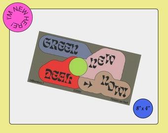 Green New Deal Now! Bumper Sticker