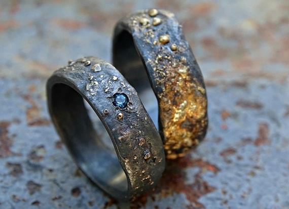 Viking Ehering Set Passende Trauringe Gold Silber Etsy