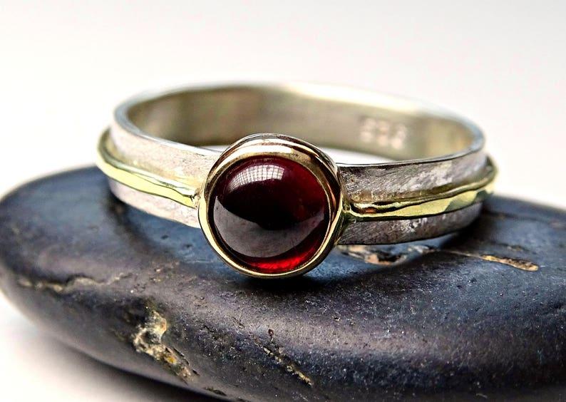 gold garnet ring womens promise ring celtic mens engagement ring viking engagement ring viking garnet ring mens garnet ring gold silver