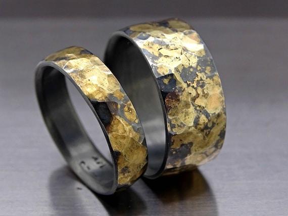 Wikinger Ehering Set Oxidiert Passende Eheringe Ringe Etsy
