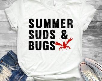b49bb357 Summer, Suds and Bugs, Crawfish Shirt, Crawfish Boil, Mudbugs, Bugs and beer